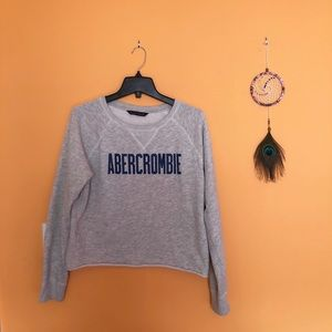 Abercrombie and Fitch Logo Crew Neck